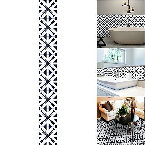 LianLe 5m Pegatina de Azulejos Papel Pintado Auto-Adhesivo Impermeable para Salón Baño Cocina