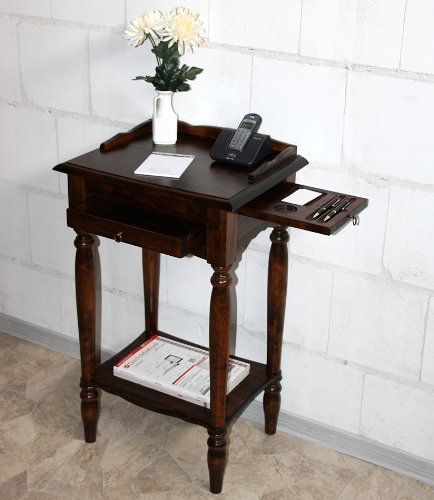 Massivholz 49x81x37cm Konsolentisch Telefontisch Beistelltisch Holz massiv Kolonial