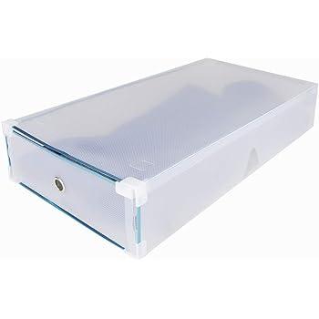 Funine - Juego de 5 Cajas de Zapatos apilables Transparentes para Botas, Caja de Zapatos, Caja de Zapatos, Caja de Zapatos, cajones, Multiusos, 52 x 30 x 11 cm: Amazon.es: Hogar