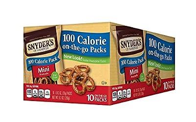 Snyder's of Hanover Pretzels, Mini Pretzel 100 Calorie Packs, 10 Count Boxes