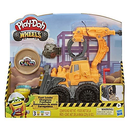 Hasbro Play-Doh Wheels - Escavatore Deluxe (Playset con composto sabbioso Play-Doh e pasta da modellare Play-Doh classica)