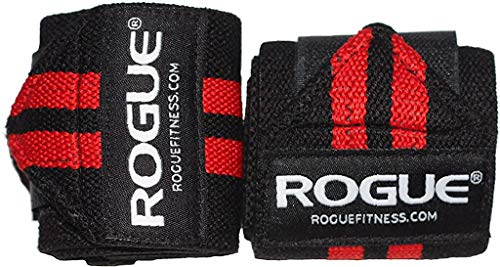 Rogue Fitness Wrist Wraps | Available in Multiple Colors (Black/Red, 12')