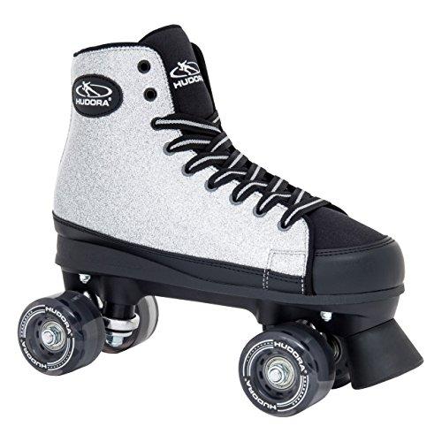 HUDORA Rollschuhe Roller-Skates Silver Glamour - Disco-Roller, Gr. 37, 13061