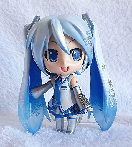 Lupovin Figura de acción de Anime Estatua # 097 Vocaloid Hatsune Miku Snow Versión de Dibujos Animados Adornos Figuras de Anime 10cm Figura Linda Figura de PVC Modelo Juguetes Regalo Coleccionable