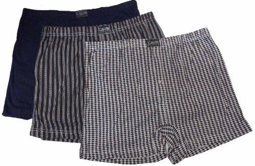S2 Fashions - Pour homme sous-vêtements shorts boxers en polycoton avec imprimé (lot de 3) - Divers carreaux, XL
