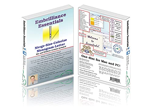 Embrilliance Essentials, Embroidery Software for...
