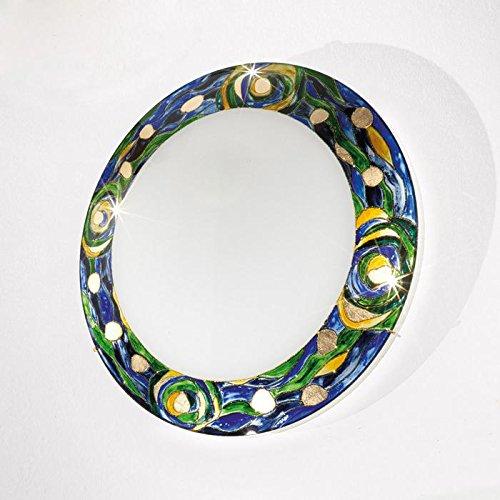 Serena Glas Deckenleuchte Kolarz-Leuchten in 24 Karat Gold | Handarbeit Made in Austria | Deckenlampe Dekorativ Dimmbar | Lampe LED