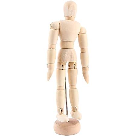 Mannequin en bois Mannequin articulé multifonctionnel pour le dessin d/'esquisse