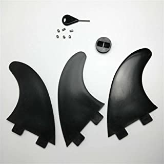 Surfboard fins FCS Surfboard Fins Surf Fin Surfing Fins G5 Medium Size Thrusters with Accessories Leash Plug Fin Plugs Scr...