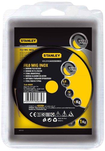 Stanley 460639 - Bobina de hilo de acero inoxidable (para soldadura MIG, 0,8 mm de diámetro)