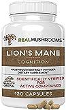 Lions Mane Mushroom Cognition Capsules (120 Capsules) Lions Mane Mushroom Powder...