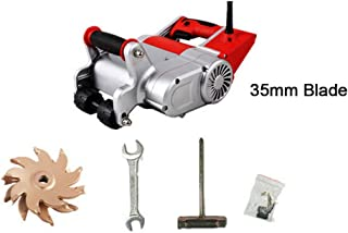 InLoveArts 1100W 25MM blade Electric Wall Chaser Cutter Machine, 110V Self-priming Dedusting Wall Groove Cutting Machine,Industrial Machine For Brick Granite Marble Concrete Cutter (red)