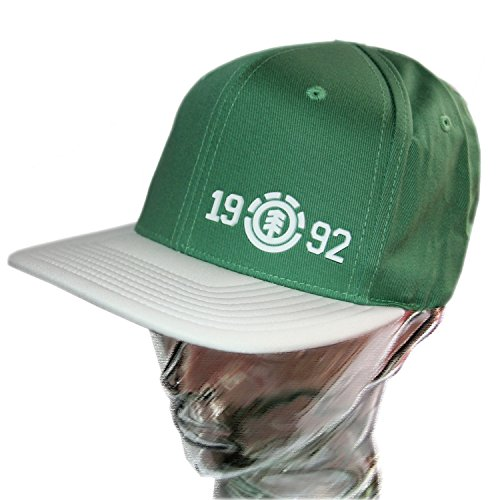 Casquette trucker snapback ajustable ELEMENT Blockin Green t