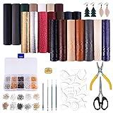 MIAHART 21 Pack de draps en faux cuir avec moules coupés de