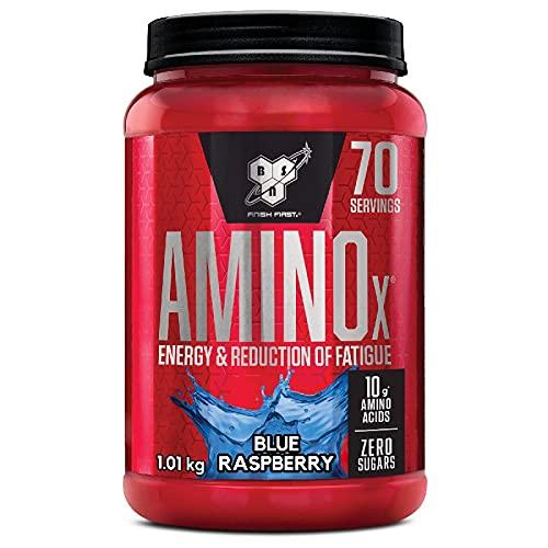 BSN Supplemento Nutrizionale Amino X, 70 Srv, Blue Raspberry Multi-Lingual - 1000 gr