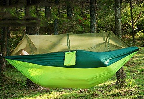 Outdoor Hamac de voyage avec moustiquaire Ultra Light 2.8 * 1.5 M Plus Personnes Charge 300 kg Set avec fixation pour Voyage, camping, jardin, trekking, plage, Travel Tapis de Hammock