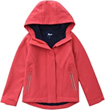 Hiheart Girls Waterproof Hooded Rain Jacket Fleece Lined Softshell Outwear