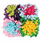 Csatai Pet Snuffle Mat Dog Slow Feeding Mat Washable, Pet Puzzle Toys Durable Interactive Dog Toys Encourages Natural Foraging Skills for Small to Large Dogs Puppy (45 * 45cm)