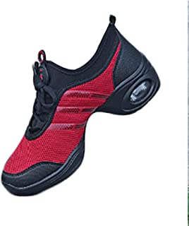 Fulision Female Breathable Mesh Cloth PU Sole Shoes Jazz Modern Dance Sneakers