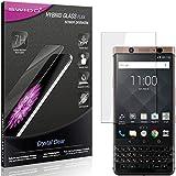 SWIDO Panzerglas Schutzfolie kompatibel mit BlackBerry KeyOne Bronze Edition Bildschirmschutz-Folie & Glas = biegsames HYBRIDGLAS, splitterfrei, Anti-Fingerprint KLAR - HD-Clear
