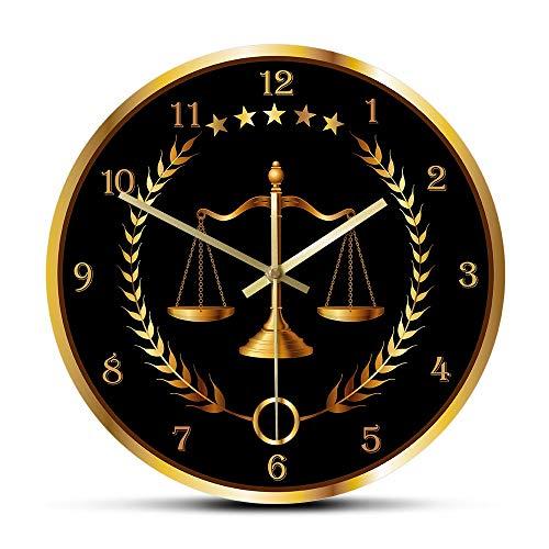 SMEJS Bufete de Abogados Reloj de Pared de la Justicia Moderna no tictac del Reloj Abogado decoración de la Oficina Arte de la Pared Juez de Derecho