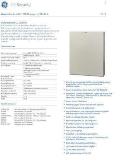 Aritech Alarmzentrale CD3404VDS