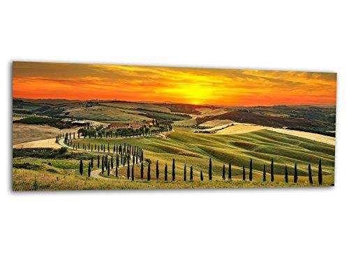 Glasbilder Echtglas Wandbilder Foto auf Glas Toskana 125 x 50cm AG312502170 / Deco Glass, Design & Handmade/Eyecatcher, Kunstdruck!