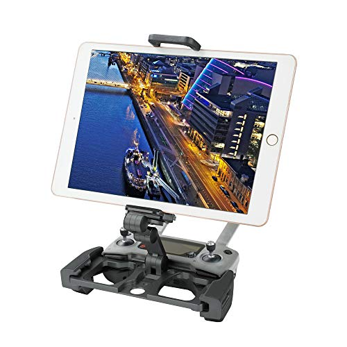 RCGEEK Compatible with DJI Mavic Mini Mavic 2 Pro & Zoom Drone Remote Controller Crystal Sky Monitor Accessorie Foldable Aluminum 10inch Tablet Mount Extender Holder with Lanyard