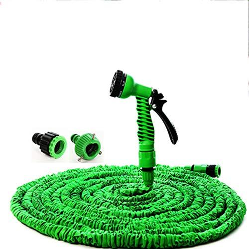 Uitbreidbare tuinslang, uitbreidbare tuinslang Pijp Flexibele expanderende waterslang Plastic tuinslang Uitbreidbare snelheidsnevel,150FT 45m