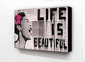 Banksy Life Is Beautiful Billie Holiday 6 x 4 Inches Postcard Size Block Mounted Print