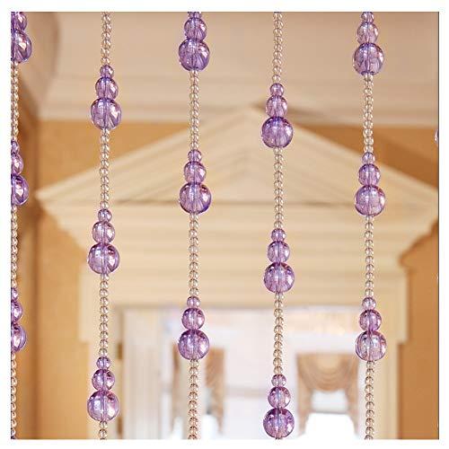 YJFENG Cortinas De Cuentas, Cortina De Cristal Cuentas En La Puerta Adorno De Armario Cadena De Cuentas Borla Boda De Navidad, Personalizable (Color : Purple, Size : 29 Strands 180x120cm)