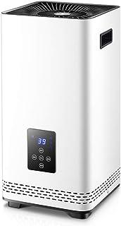 DENGSH con el Control Remoto Caliente Velocidad Calefactor Eléctrico,la Energía Temporizador 12H Calentadores,la Protección Térmica Robusto/Blanco / 26×26×52cm