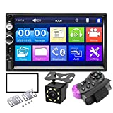 FDSAD 7'HD Pantalla táctil Multimedia MP5 Player 2din Auto Audio Car Estéreo Bluetooth USB TF FM Cámara Inversa Autoradio 2 DIN Coche Radio