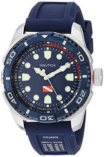 Nautica Men's NAPTDS902 Tarpoon Dive Blue/Silver...