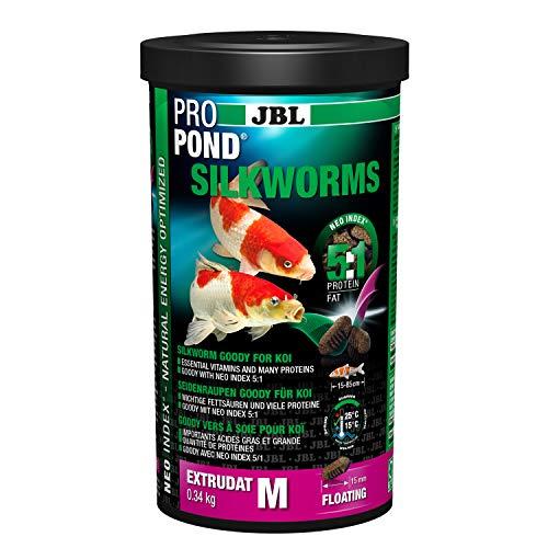 JBL Vers à Soie pour Koïs, Extrudats Flottants, Friandise, ProPond Silkworms, 0,34 kg
