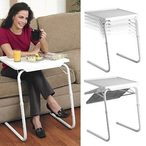 Hanks' shop Adjustable Laptop Stand,Notebook Stand,Plastic Pad Steel Tube Bracket Liftable Foldable Portable Multi-purpose Laptop Table,Adjustable Height 53-74cm,Adjustable Angle 30/60/90/180 Degrees