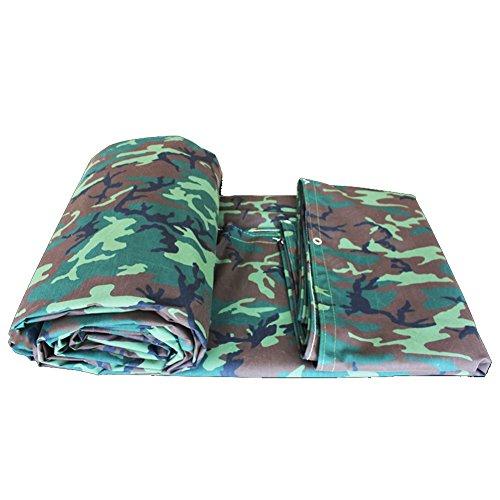 QIANGDA Camouflage Feuille De Bâche Épaissir Toile D'auvent Imperméable Super Anti Poussière Résistant Au Froid, 560g / M², Épaisseur 1mm, 7 Tailles Facultatives (Size : 4 x 4m)