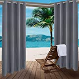2 Panels Outdoor Indoor Curtains W52 x L108 for Patio - 230GSM Weather-Resistant Privacy Protect Grommet Top Thermal Insulated Home Curtain for Porch Pergola Lawn Garden Hot Tub Area Balcony Deck