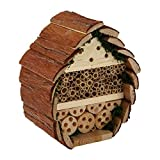 Wildlife Republic Log Cabin Bee Bug e Insect Home, Natural, 24 cm H, 21 cm W, 13 cm D