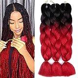 AIDUSA Ombre Colors Braiding Hair Ombre 3pcs Synthetic Braid Hair...