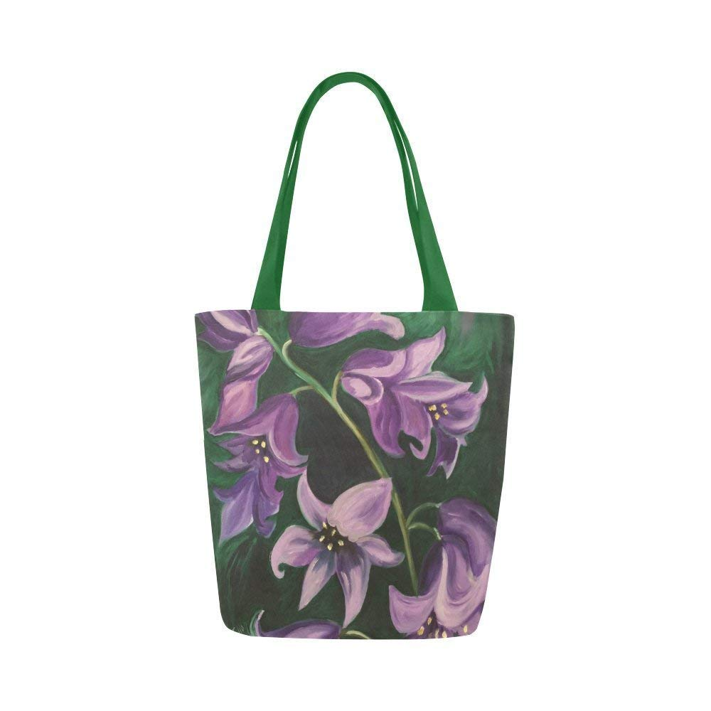 Tote Bag Floral Canvas Super sale period limited Shoulder for Flowers Memphis Mall Women Girls