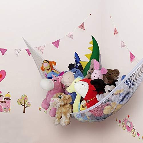 Auony Stofftier Hängematte, Netz-Spielzeug Hängematte, Spielzeug Aufbewahrung, Organisieren von Stofftieren oder Kinderspielzeug für Schlafzimmer, Spielzimmer, Badezimmer