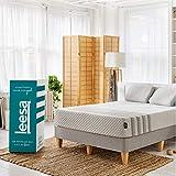 Leesa Hybrid Mattress, Luxury Hybrid 11' Mattress in a Box, CertiPUR-US Certified 3 Layer Spring/Memory Foam Construction, Queen, White & Gray