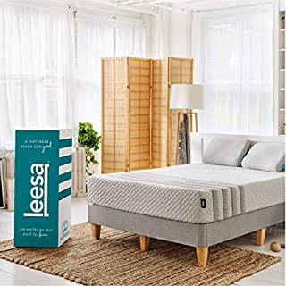 "Leesa Luxury Hybrid 11"" Box Mattress, California King, White & Gray (B01NA052OG) 