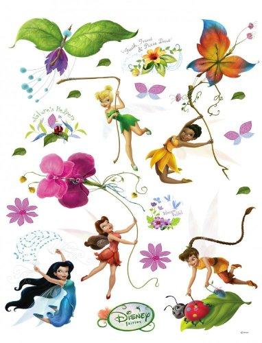 Wandtattoo Wandsticker Tattoo Wanddeko Tinkerbell Tinker Bell Feen Blumen