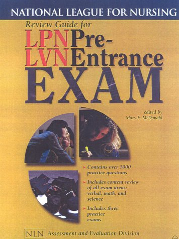 Review Guide for LPN/LVN Pre-Entrance Exam: National League for Nursing (National League for Nursing Series)
