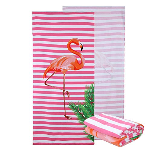 NuanSumm Microfiber Beach Towels - Oversized Beach Blanket Towel Portable Ultra Soft Super Water Absorbent Multi-Purpose Beach Throw Towel for Adults Girls Women Kids 30x 60 inch