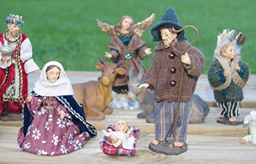 Krippen-Figuren CHRISTKINDL alpenländische Stoffbekleidung 15-teilig 13 cm