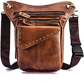 Mens Genuine Leather Fanny Pack Waist Bag Belt Pouch Bum Bags for Men Women