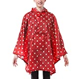 reisenthel mini maxi Damen poncho  Regenmantel, mehrfarbig (ruby dots),141 x 116 cm